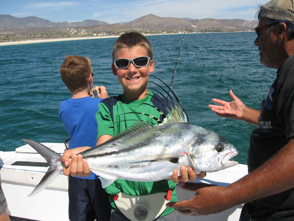 Eli with Roosterfish, Rancho Leonero